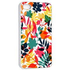 Seamless Autumn Leaves Pattern  Apple Iphone 4/4s Seamless Case (white)