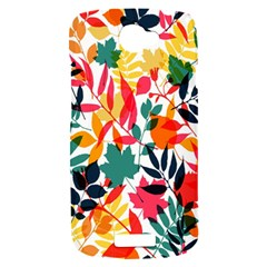Seamless Autumn Leaves Pattern  HTC One S Hardshell Case