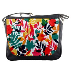 Seamless Autumn Leaves Pattern  Messenger Bags