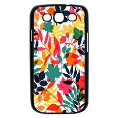 Seamless Autumn Leaves Pattern  Samsung Galaxy S III Case (Black)