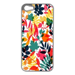 Seamless Autumn Leaves Pattern  Apple Iphone 5 Case (silver)