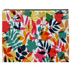Seamless Autumn Leaves Pattern  Cosmetic Bag (xxxl)