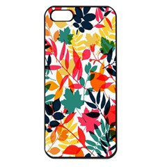 Seamless Autumn Leaves Pattern  Apple Iphone 5 Seamless Case (black)