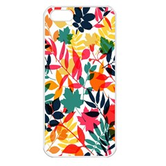 Seamless Autumn Leaves Pattern  Apple iPhone 5 Seamless Case (White)