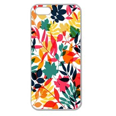 Seamless Autumn Leaves Pattern  Apple Seamless iPhone 5 Case (Clear)