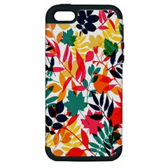 Seamless Autumn Leaves Pattern  Apple Iphone 5 Hardshell Case (pc+silicone)