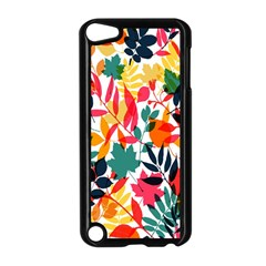 Seamless Autumn Leaves Pattern  Apple iPod Touch 5 Case (Black)