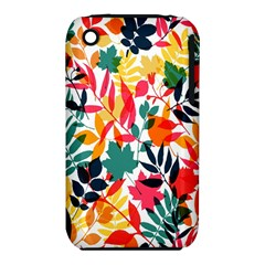 Seamless Autumn Leaves Pattern  Apple iPhone 3G/3GS Hardshell Case (PC+Silicone)
