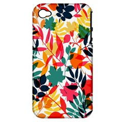Seamless Autumn Leaves Pattern  Apple Iphone 4/4s Hardshell Case (pc+silicone)