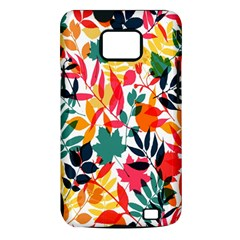 Seamless Autumn Leaves Pattern  Samsung Galaxy S II i9100 Hardshell Case (PC+Silicone)