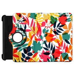 Seamless Autumn Leaves Pattern  Kindle Fire Hd Flip 360 Case