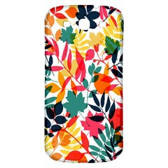 Seamless Autumn Leaves Pattern  Samsung Galaxy S3 S III Classic Hardshell Back Case