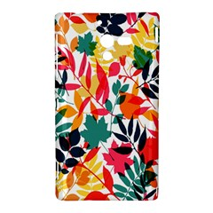 Seamless Autumn Leaves Pattern  Sony Xperia ZL (L35H)