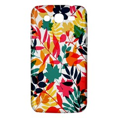 Seamless Autumn Leaves Pattern  Samsung Galaxy Mega 5.8 I9152 Hardshell Case