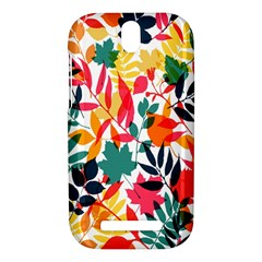 Seamless Autumn Leaves Pattern  HTC One SV Hardshell Case
