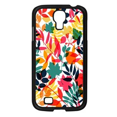 Seamless Autumn Leaves Pattern  Samsung Galaxy S4 I9500/ I9505 Case (black)