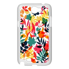 Seamless Autumn Leaves Pattern  Samsung Galaxy Note 2 Case (White)