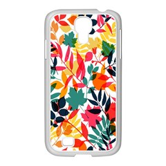 Seamless Autumn Leaves Pattern  Samsung Galaxy S4 I9500/ I9505 Case (white)