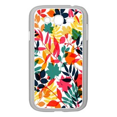Seamless Autumn Leaves Pattern  Samsung Galaxy Grand DUOS I9082 Case (White)