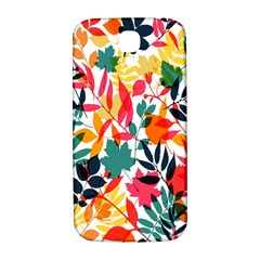 Seamless Autumn Leaves Pattern  Samsung Galaxy S4 I9500/I9505  Hardshell Back Case