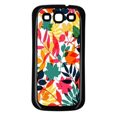 Seamless Autumn Leaves Pattern  Samsung Galaxy S3 Back Case (black)