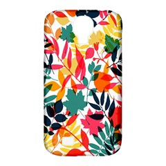 Seamless Autumn Leaves Pattern  Samsung Galaxy S4 Classic Hardshell Case (pc+silicone)