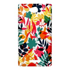 Seamless Autumn Leaves Pattern  Sony Xperia C (S39H)