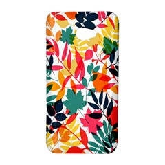 Seamless Autumn Leaves Pattern  HTC Butterfly S/HTC 9060 Hardshell Case