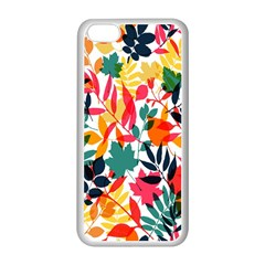 Seamless Autumn Leaves Pattern  Apple Iphone 5c Seamless Case (white)