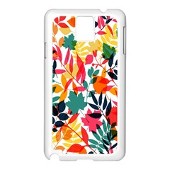 Seamless Autumn Leaves Pattern  Samsung Galaxy Note 3 N9005 Case (white)