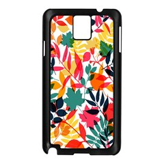 Seamless Autumn Leaves Pattern  Samsung Galaxy Note 3 N9005 Case (black)