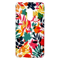 Seamless Autumn Leaves Pattern  HTC One Max (T6) Hardshell Case