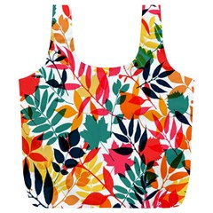 Seamless Autumn Leaves Pattern  Full Print Recycle Bags (l)