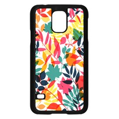 Seamless Autumn Leaves Pattern  Samsung Galaxy S5 Case (black)