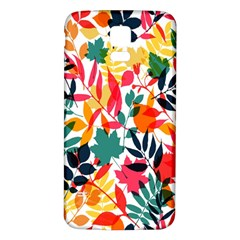 Seamless Autumn Leaves Pattern  Samsung Galaxy S5 Back Case (white)
