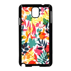 Seamless Autumn Leaves Pattern  Samsung Galaxy Note 3 Neo Hardshell Case (black)