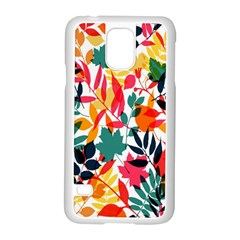 Seamless Autumn Leaves Pattern  Samsung Galaxy S5 Case (White)