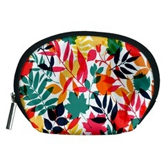 Seamless Autumn Leaves Pattern  Accessory Pouches (Medium)