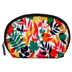 Seamless Autumn Leaves Pattern  Accessory Pouches (Large)