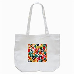 Seamless Autumn Leaves Pattern  Tote Bag (white)