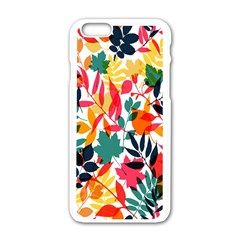 Seamless Autumn Leaves Pattern  Apple iPhone 6/6S White Enamel Case