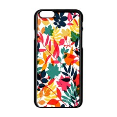 Seamless Autumn Leaves Pattern  Apple iPhone 6/6S Black Enamel Case