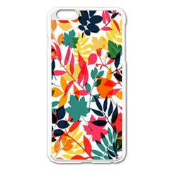 Seamless Autumn Leaves Pattern  Apple iPhone 6 Plus/6S Plus Enamel White Case