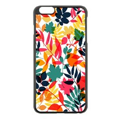 Seamless Autumn Leaves Pattern  Apple iPhone 6 Plus/6S Plus Black Enamel Case
