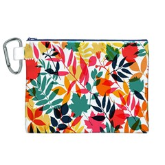 Seamless Autumn Leaves Pattern  Canvas Cosmetic Bag (XL)