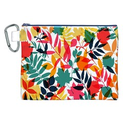 Seamless Autumn Leaves Pattern  Canvas Cosmetic Bag (XXL)