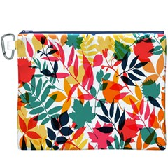 Seamless Autumn Leaves Pattern  Canvas Cosmetic Bag (xxxl)