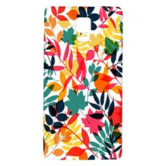 Seamless Autumn Leaves Pattern  Galaxy Note 4 Back Case