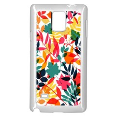 Seamless Autumn Leaves Pattern  Samsung Galaxy Note 4 Case (White)