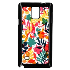 Seamless Autumn Leaves Pattern  Samsung Galaxy Note 4 Case (black)